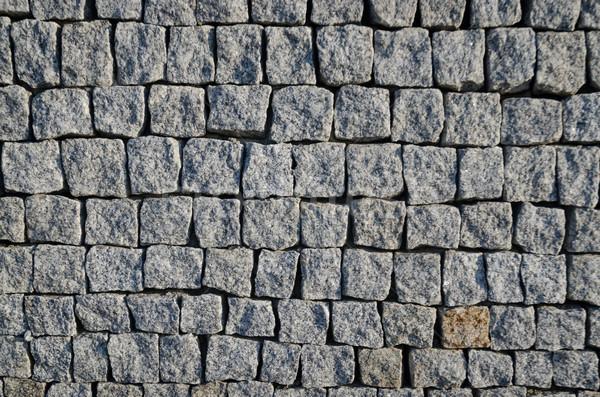 Stock photo: Cobbled pavement