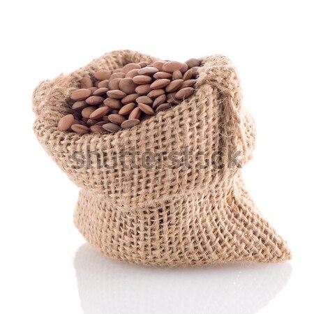 Burlap bag with lentils Stock photo © homydesign