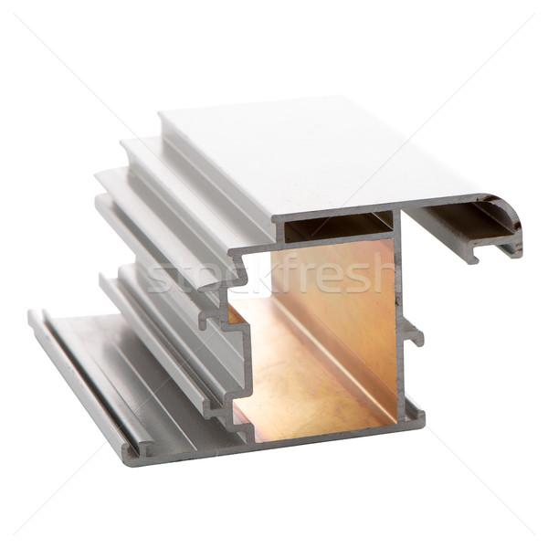 Aluminium profil odizolowany biały budowy bar Zdjęcia stock © homydesign