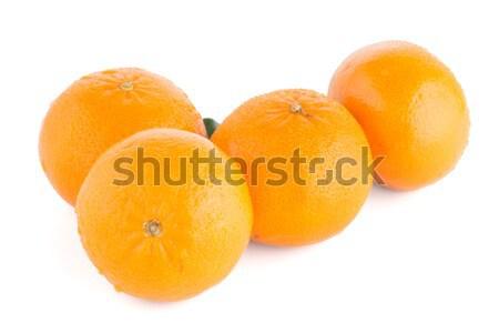 Maduro tangerina mandarim isolado branco comida Foto stock © homydesign