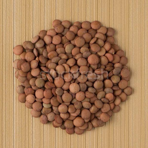 Circle of lentils Stock photo © homydesign