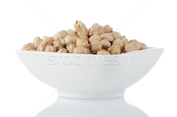 Closeup of a bowl with chickpeas Stock photo © homydesign