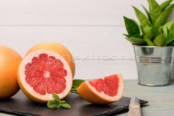 グレープフルーツ クローズアップ 木製のテーブル フルーツ 健康 ストックフォト © homydesign
