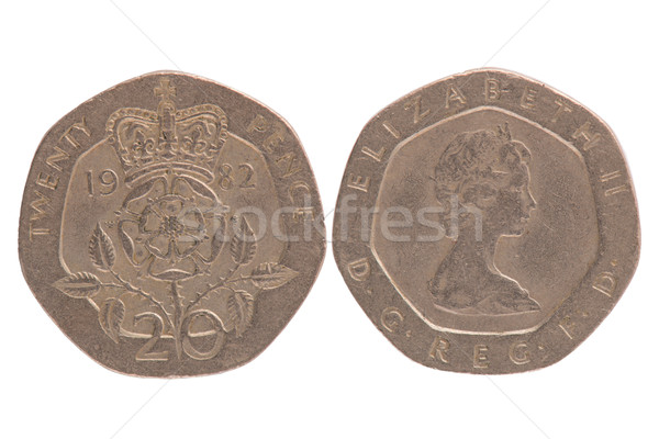 Stock photo: Twenty Pence coin