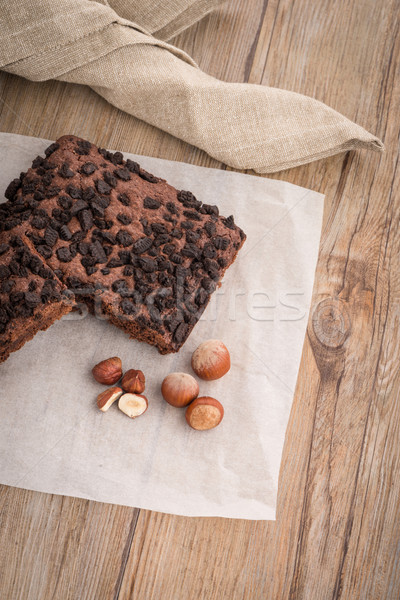 Tasty chocolate brownies Stock photo © homydesign