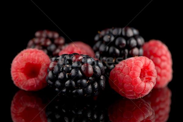 BlackBerry framboise noir isolé fruits santé Photo stock © homydesign