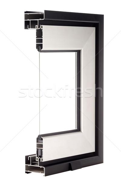 Alumínio janela amostra isolado branco edifício Foto stock © homydesign