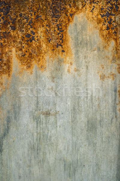 Arrugginito metal texture umidità aria muro abstract Foto d'archivio © homydesign