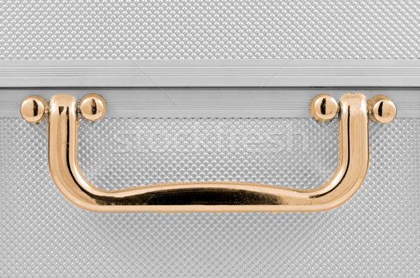 Gouden behandelen detail aluminium geval business Stockfoto © homydesign