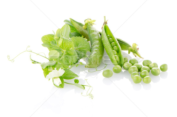 Frescos verde vaina blanco alimentos grupo Foto stock © homydesign