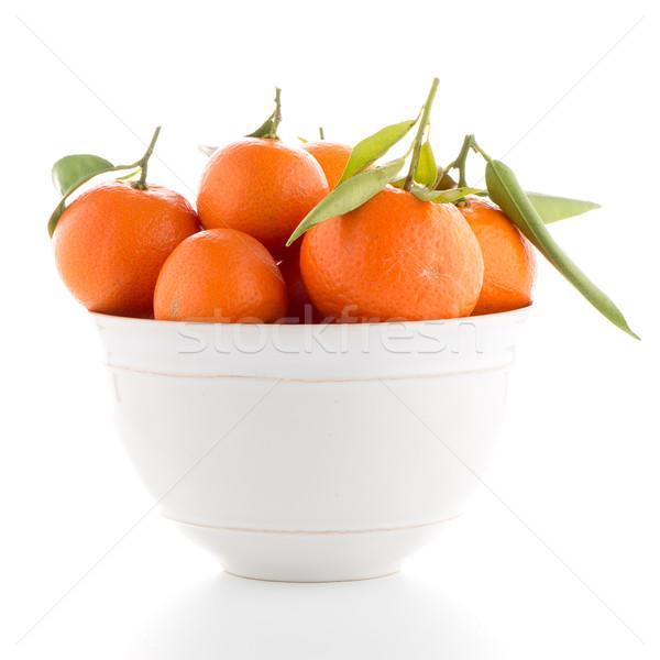 Cerâmico branco tigela isolado comida fundo Foto stock © homydesign