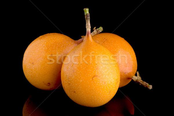 Pasja owoców żywności tle pomarańczowy tropikalnych Zdjęcia stock © homydesign