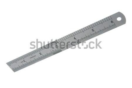 Stainless steel ruler  Stock photo © homydesign