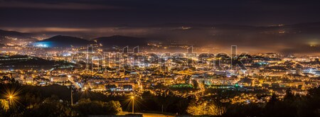 Braga cityscape at night Stock photo © homydesign