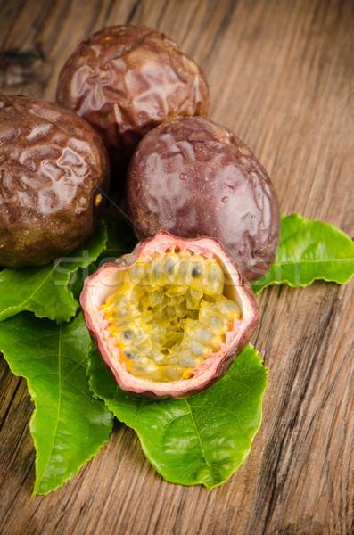 情熱 果物 木製 食品 木材 色 ストックフォト © homydesign