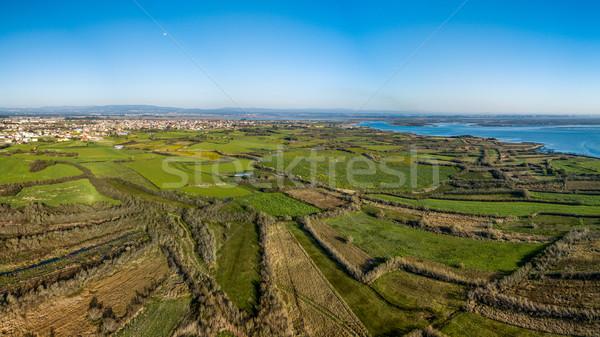 Aerial View of Ribeira de Pardelhas Stock photo © homydesign