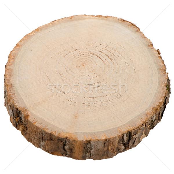 Wood log slice Stock photo © homydesign