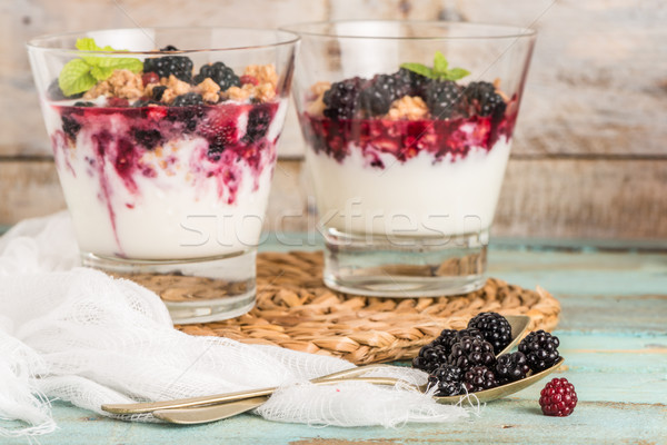 Yogurt desert Stock photo © homydesign