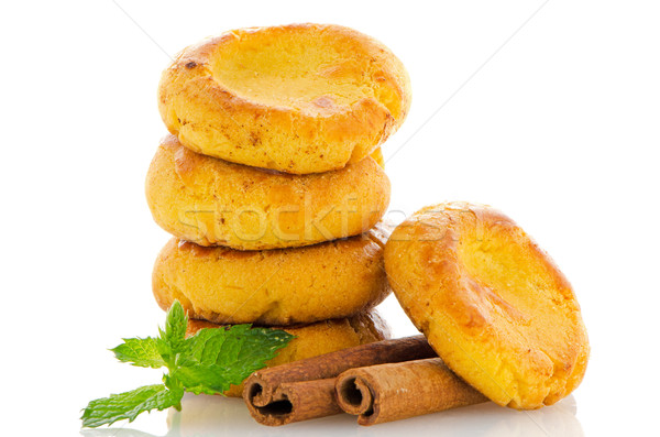 Baked cookies with mint  Stock photo © homydesign