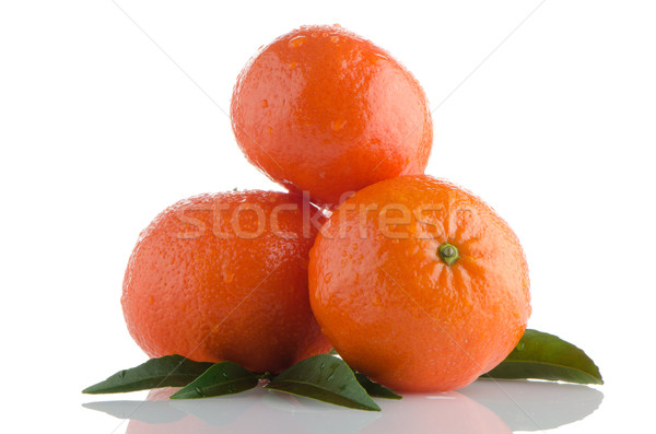 Tangerines Stock photo © homydesign