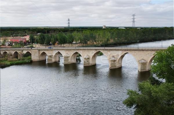 Bridge of the 12th century, Simancas, Spain  Stock photo © homydesign