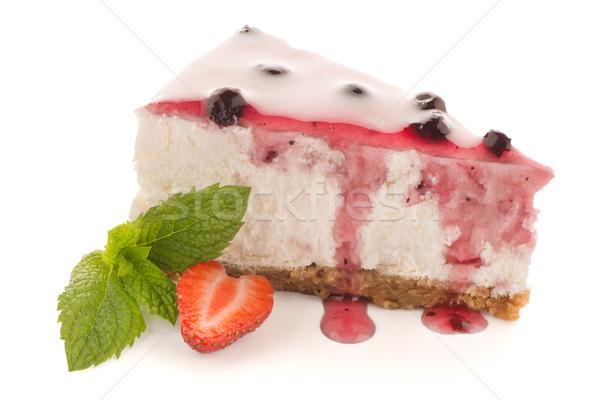 Cheese Cake slice Stock photo © homydesign