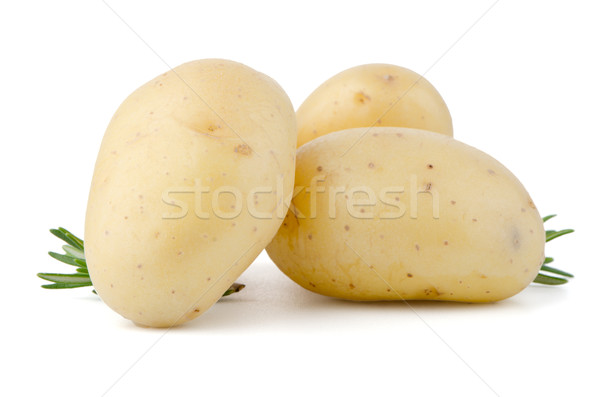 New potatoes and green herbs Stock photo © homydesign