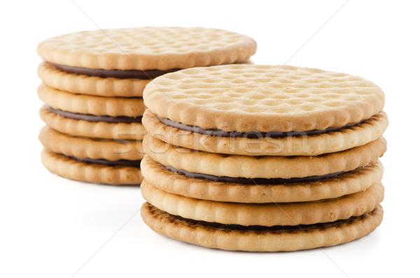 сэндвич Печенье шоколадом заполнение белый сломанной Сток-фото © homydesign