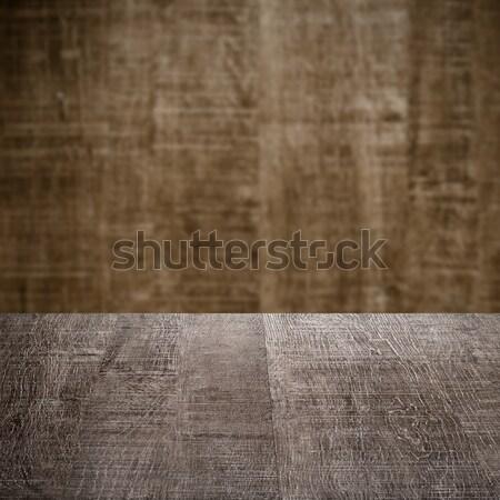 Hout tabel houten muur textuur boom Stockfoto © homydesign