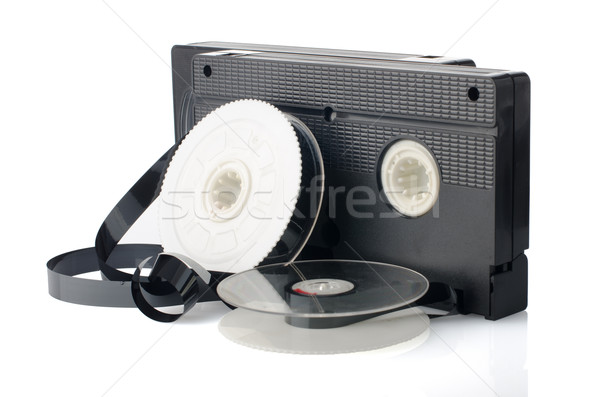 Two videotapes and reel Stock photo © homydesign