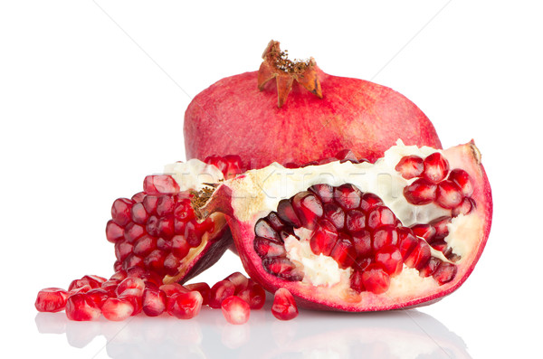 Grenade fruits brisé blanche santé Photo stock © homydesign