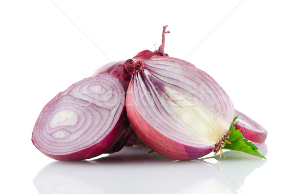 Red sliced onion Stock photo © homydesign