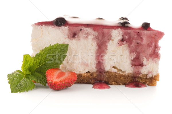 チーズケーキ スライス 白 食品 フルーツ チーズ ストックフォト © homydesign
