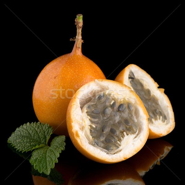 страсти фрукты текстуры продовольствие фон оранжевый Сток-фото © homydesign