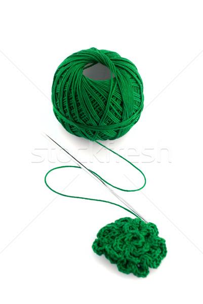針 緑 スプール 白 ファッション 背景 ストックフォト © homydesign
