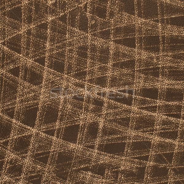 Brown leather texture closeup Stock photo © homydesign