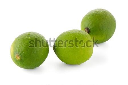 Fresche verde isolato bianco foglia frutta Foto d'archivio © homydesign