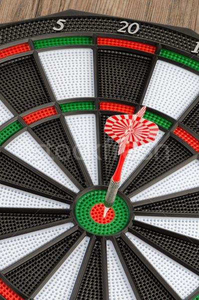 Dart board with dart Stock photo © homydesign