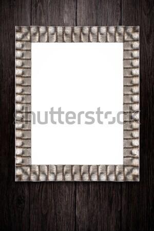 старые фоторамка Vintage древесины стены текстуры Сток-фото © homydesign