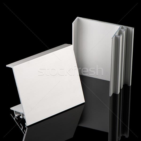 Alluminio profilo campione isolato nero costruzione Foto d'archivio © homydesign