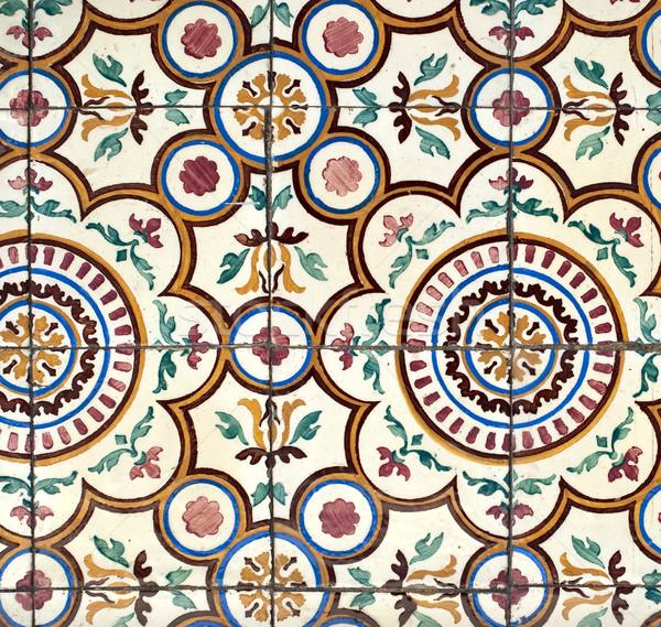 Portuguese glazed tiles 021 Stock photo © homydesign