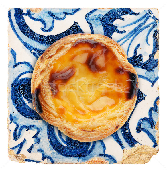 Portuguese dessert pastel de nata Stock photo © homydesign