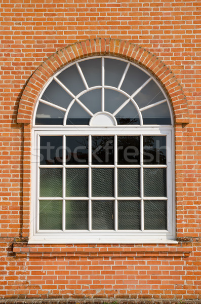 White painted wood arched window Stock photo © homydesign