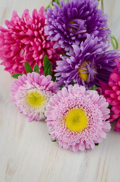 Homegrown fall garden flowers  Stock photo © homydesign