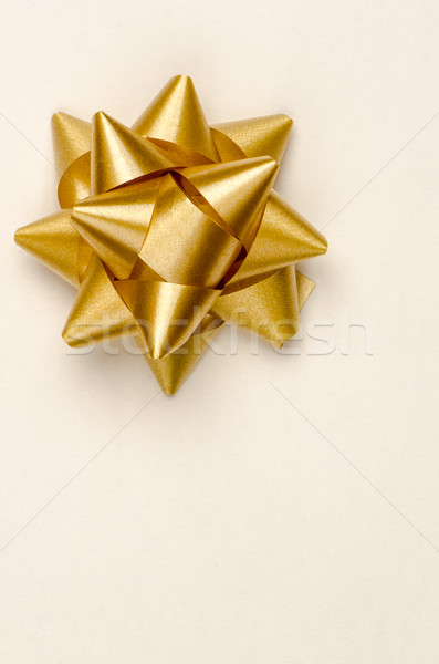 Gold Christmas bow Stock photo © homydesign