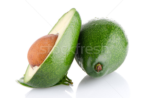 Avocados on white  Stock photo © homydesign