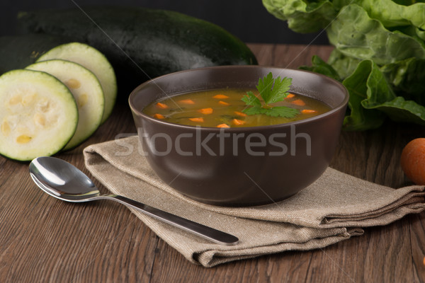 Soup with vegetables Stock photo © homydesign
