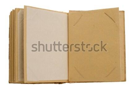 Resim albüm yalıtılmış beyaz kâğıt Stok fotoğraf © homydesign