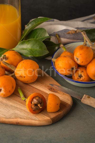 Konyhapult gyümölcs narancs asztal klasszikus fehér Stock fotó © homydesign