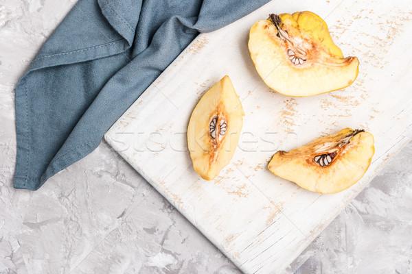 Сток-фото: айва · фрукты · конкретные · кухне · яблоко